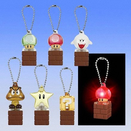 Super Mario Bros. Light Mascot Keychain Gashapon