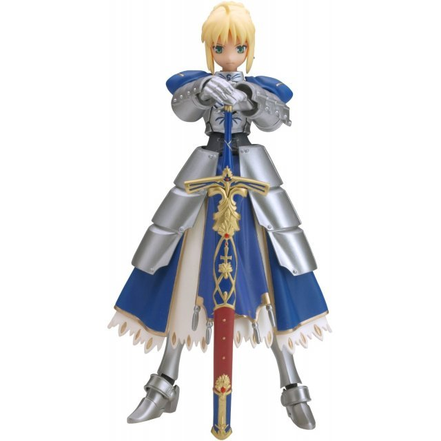 Fate/Stay Night Non Scale Pre-Painted PVC Figure: figma Saber (Re-run)