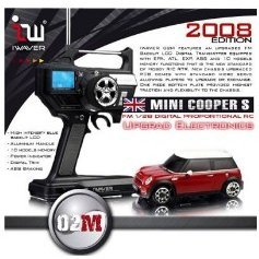 Iwaver FM 1/28 Digital Proportional RC Mini Cooper S Red (2008 Edition)