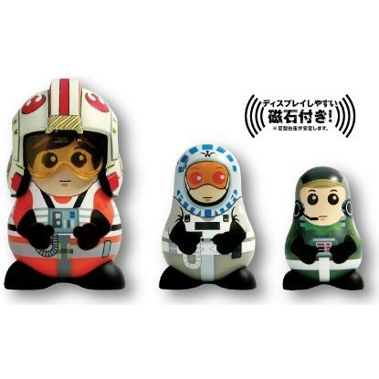 Chubby Series 2 Star Wars Non Scale Pre-Painted Figure: Starfighter Pilots