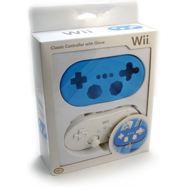 Wii Classic Controller with Glove (Special Edition / Blue)