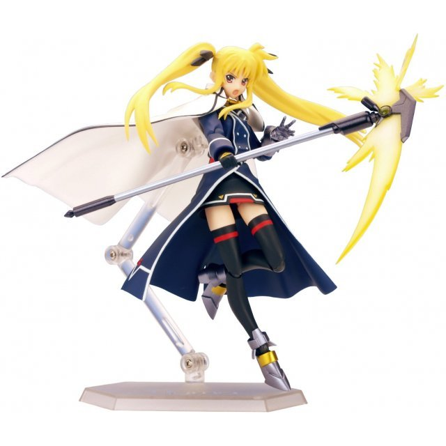 Magic Girl Lyrical Nanoha StrikerS Non Scale Pre-Painted PVC Figure: figma Fate Barrier Jacket Version