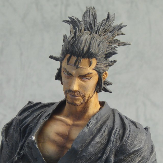 Vagabond Sculpture Arts Pre-Painted Polystone Figure: Musashi