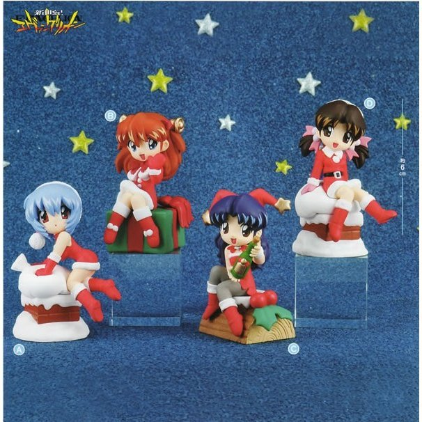 Neon Genesis Evangelion Christmas Party MDF Non Scale Pre-Painted Trading Figure<br />Sega