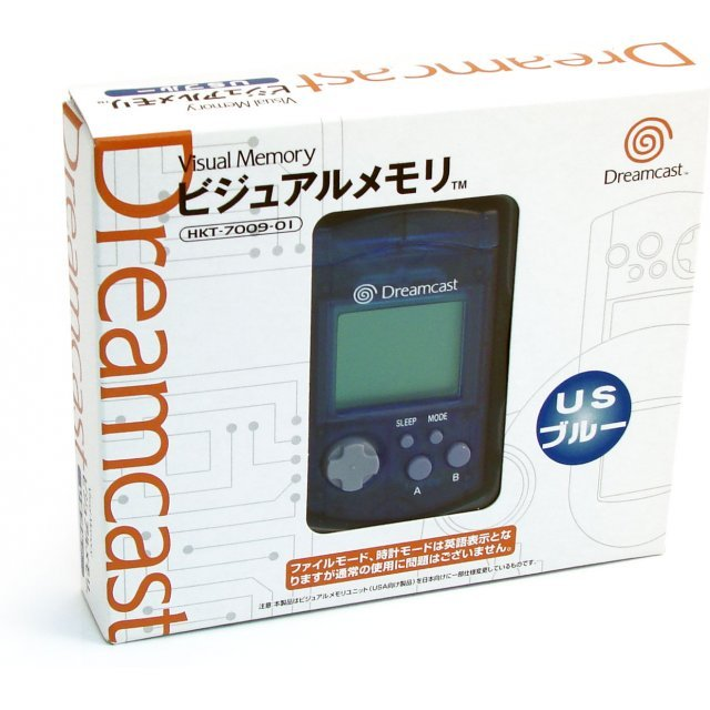 Dreamcast Visual Memory Card VMS/VMU (US Edition clear blue Design)