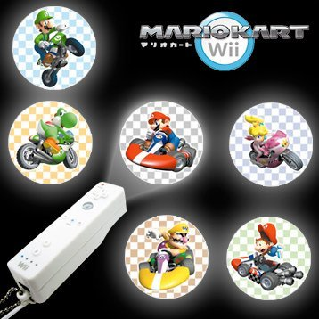 Nintendo Wii Collection Super Mario Kart Projector Light Keychain Gashapon