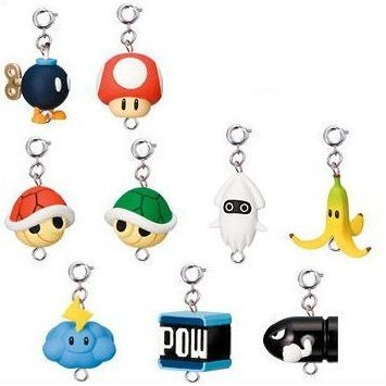Mario Kart Wii Collection Key Chain Gashapon