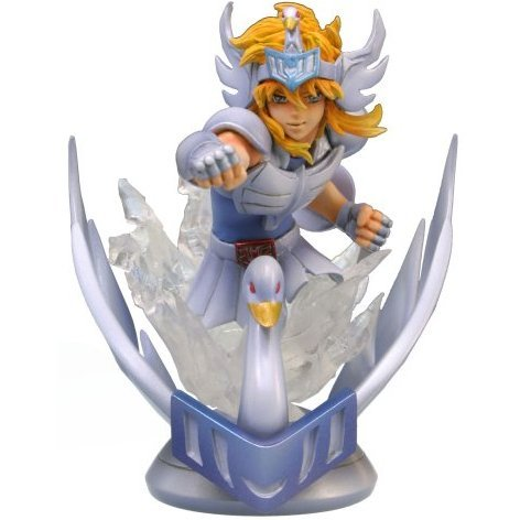 Super Figure Saint Seiya Gold Sign of The Zodiac Non Scale Pre-Painted Statue: Cygnus Hyoga