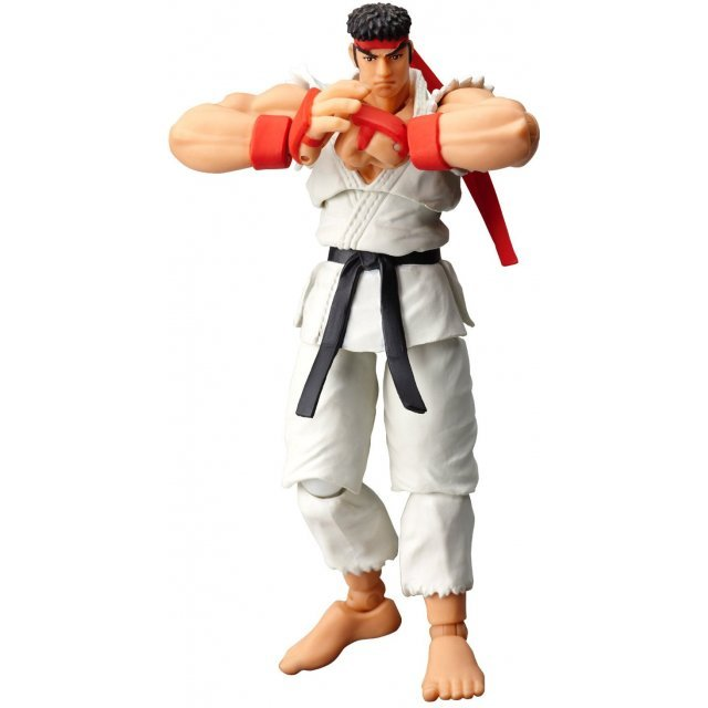 Revoltech SFO Series No.001 Non Scale Pre-Painted PVC Figure: Ryu