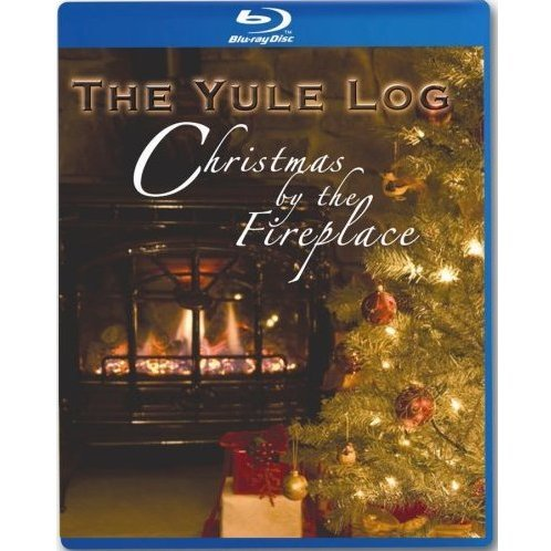 Yule Log-Christmas By the Fireplace
