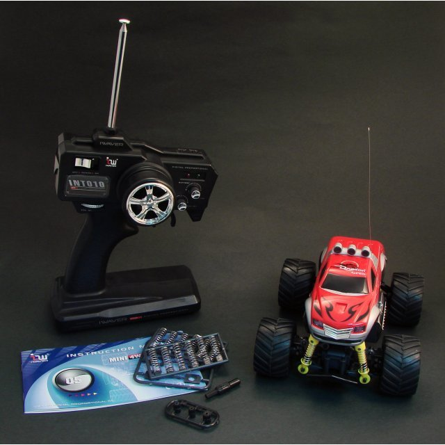 Iwaver FM 1/24 Digital Proportional RC Mini 4WD Bigfoot (Red)