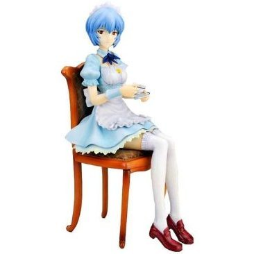 Neon Genesis Evangelion 1/7 Scale Pre-Painted PVC Figure: Rei Ayanami Kotobukiya Limited Edition (Maid Version)