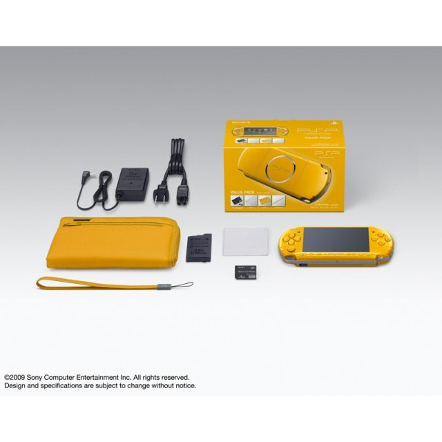 PSP PlayStation Portable Slim & Lite - Bright Yellow Value Pack (PSPJ-30003)