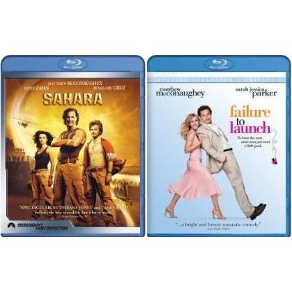 Sahara and Failure To Launch (Blu-Ray 2-pack Side by Side)