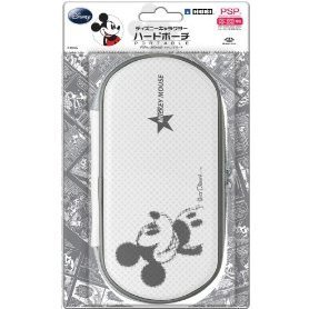 Disney Character Hard Pouch Portable (Mickey White)