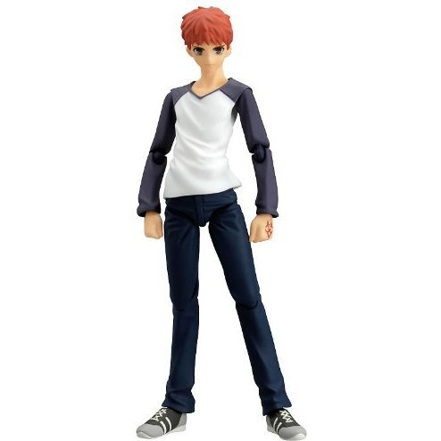 Fate/stay night Non Scale Pre-Painted PVC Figure: figma Emiya Shiro (Casual Version)