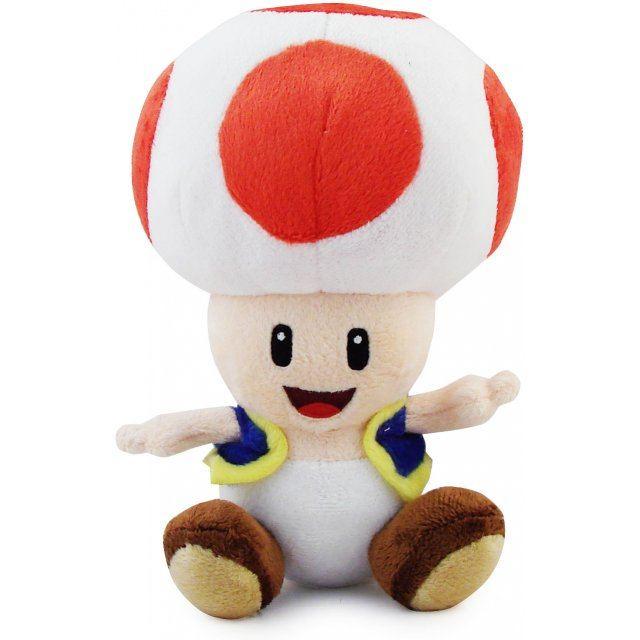 Super Mario Plush Series Plush Doll: Toad (Small Size)