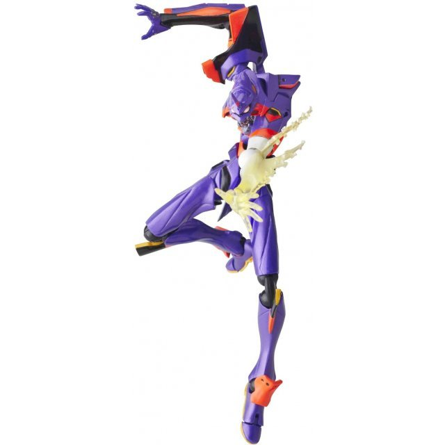 Revoltech Series No. 076 - Rebuild of Evangelion Pre-Painted PVC Figure: EVA-01 New Movie Edition (Awakening Version)