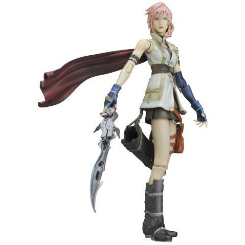 Final Fantasy XIII Play Arts Kai Pre-Painted Figure: Lightning (Re-run)