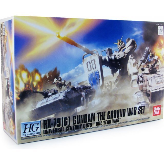 Gundam 1/144 Scale Pre-Painted Model Kit: The Ground War Set RX-79(G)