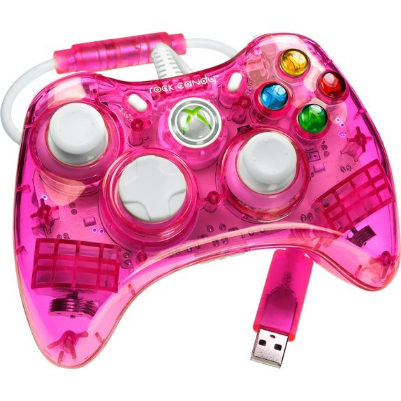 Rock Candy Xbox 360 Wired Controller (Pink)