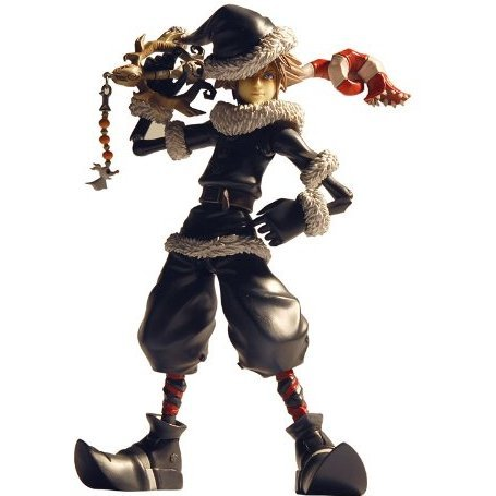 Kingdom Hearts II Non Scale Pre-Painted Figure: Sora (Christmas Town Version)