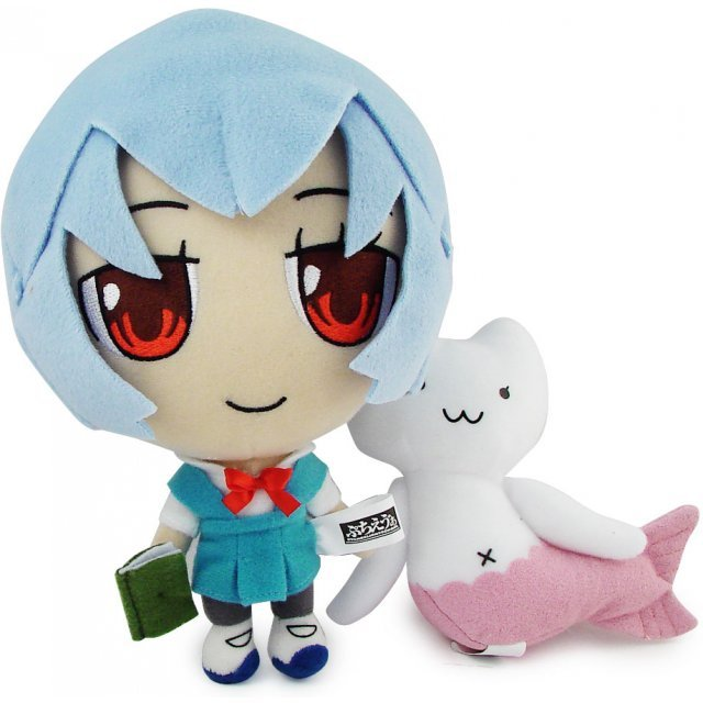 Neon Genesis Evangelion Evangelion Plush Doll: Rei & Mermaid Cat