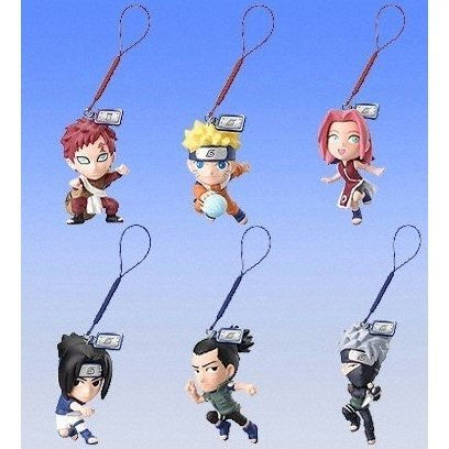 Naruto Ninja Solution Phone Strap Gashapon (Shipped randomly)