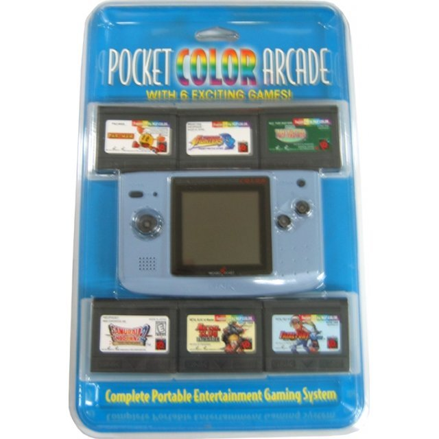 NeoGeo Pocket Color Bundle (incl. 6 games) - Platinum Blue