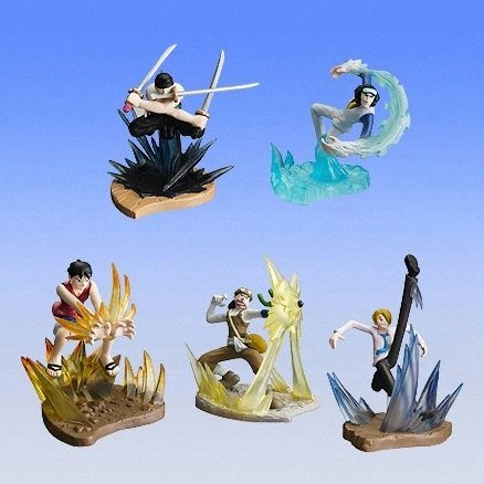 From TV Animation ONE PIECE The Dress Battle Gashapon (full set)