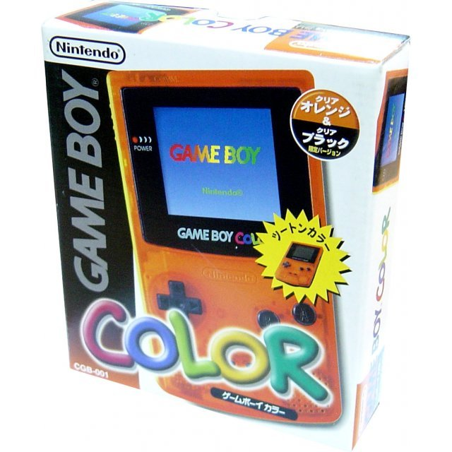 Game Boy Color Console - clear orange