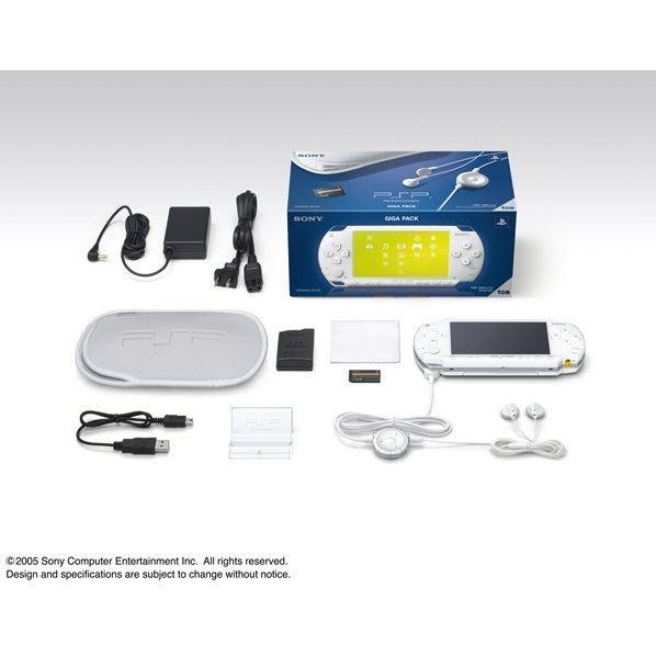 PSP PlayStation Portable Giga Pack - Ceramic White (PSP-1000G1CW)
