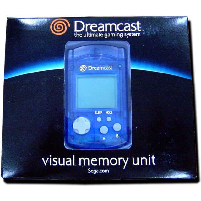 Dreamcast Visual Memory Card VMS/VMU (clear blue)