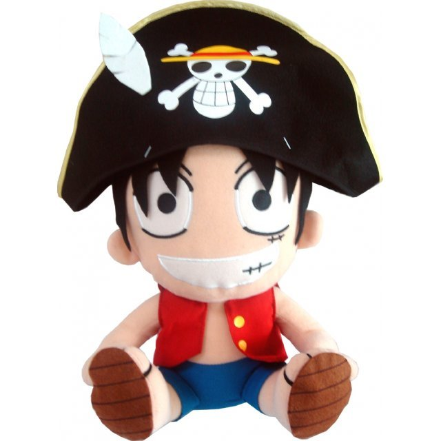 From TV Animation ONE PIECE Big Plush Doll DX Pirate Cap - Model A: Luffy