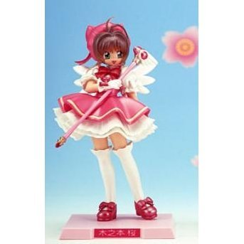 Card Captor Sakura Pre-painted PVC Figure: Sakura Battle Costume (Pastel Pearl)
