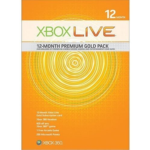 Xbox Live 12-Month Premium Gold Pack
