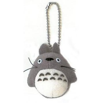 Sun Arrow Tonari no Totoro Mascot Key Chain: Big Totoro (Grey Colour)