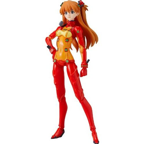 Neon Genesis Evangelion Rebuild of Evangelion Non Scale Pre-Painted PVC Figure: figma Shikinami Asuka Langley Test  Plugsuit Ver.
