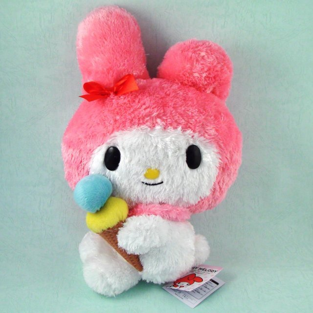 My Melody Plush Doll:  Double Ice Cream (Pink Ver.)