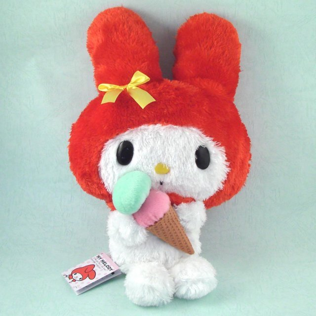 My Melody Plush Doll:  Double Ice Cream (Red Ver.)