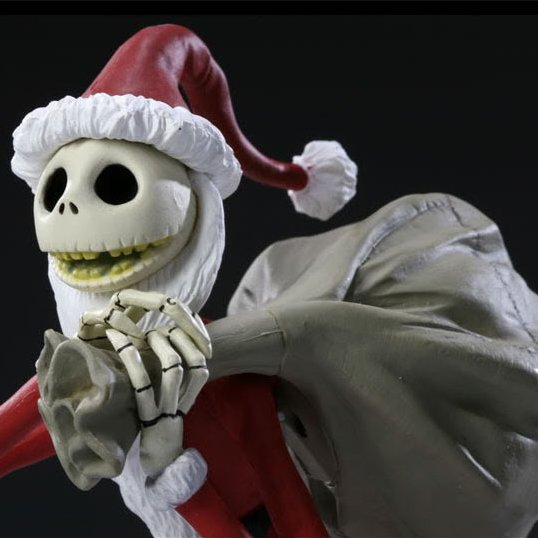 Nightmare Before Christmas Pre-Painted Desktop PVC Figure: Santa ...