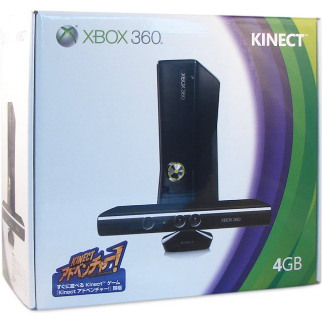 Xbox 360 Arcade Slim Console (4GB) Kinect Bundle incl. Kinect Adventures