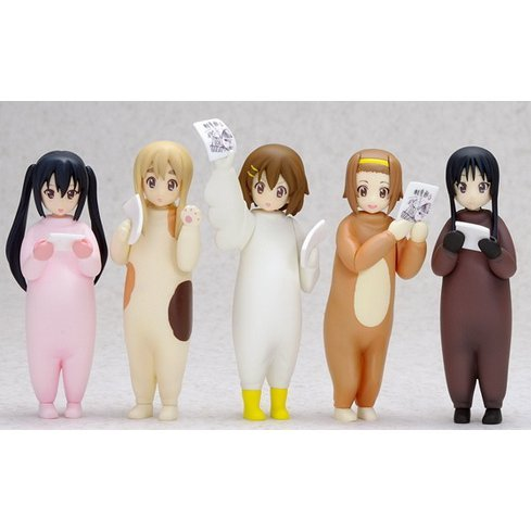 K-ON! Non Scale Pre-Painted Soft Vinyl PVC Figure: Kigurumi After School Tea Time Set