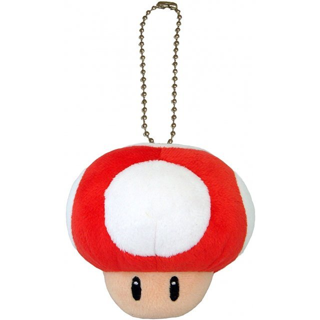 Super Mario Plush Series Plush Doll: Power Mushroom Mascot