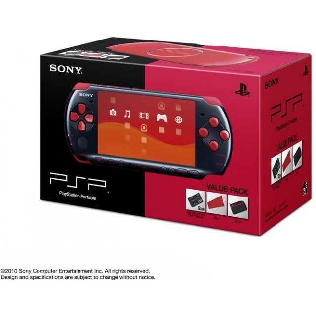 PSP PlayStation Portable Slim & Lite - Black/Red (PSPJ-30017)