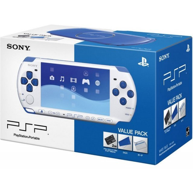 PSP PlayStation Portable Slim & Lite - White/Blue (PSPJ-30018)