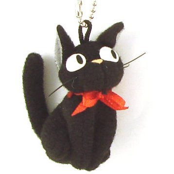 Sun Arrow Majo no Takkyuubin Mascot Key Chain: Gigi Cat