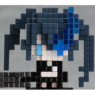 Black Rock Shooter Pre-Painted PVC Figure: Pixtone Black Rock Shooter