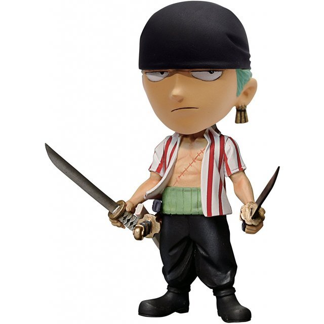 One Piece Bobbing Head Pre-Painted PVC Figure: Roronoa Zoro Bandana Ver.