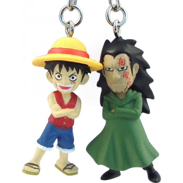 Banpresto One Piece Pre-Painted PVC Twin Key Chain Vol. 1: Luffy & Dragon